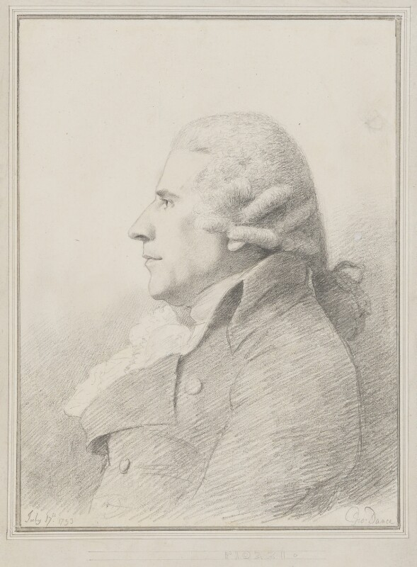 Gabriel Piozzi, by George Dance, 1793 -NPG 1152 - © National Portrait Gallery, London
