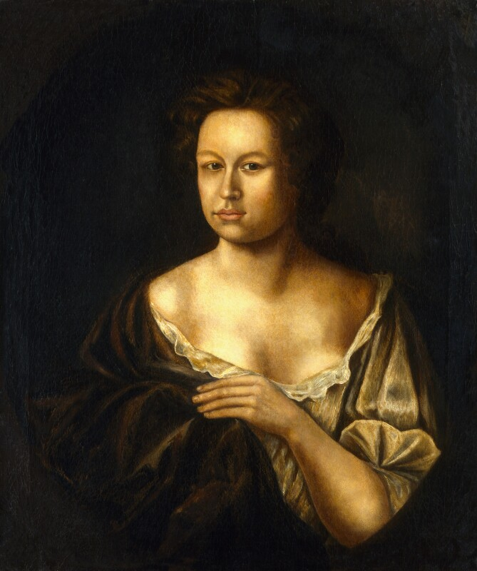 Mary Pix, by Unknown artist, circa 1690 - NPG 4554 - © National Portrait Gallery, London