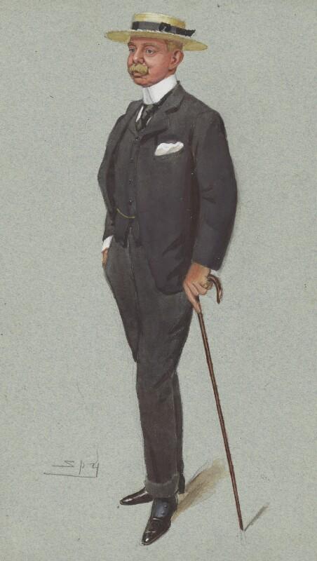 Herbert Plumer, 1st Viscount Plumer, by Sir Leslie Ward, published in Vanity Fair 13 November 1902 - NPG 3000 - © National Portrait Gallery, London