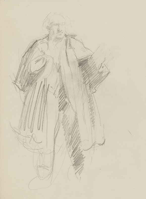 William Poel, by Henry Tonks, circa 1932 - NPG 3072(14) - © National Portrait Gallery, London