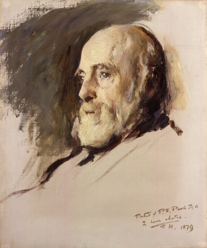 Paul Falconer Poole, by Frank Holl, 1879 - NPG 2532 - © National Portrait Gallery, London