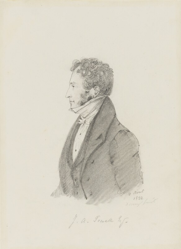 John Allan Powell, by Alfred, Count D'Orsay, 1832 - NPG 4026(46) - © National Portrait Gallery, London