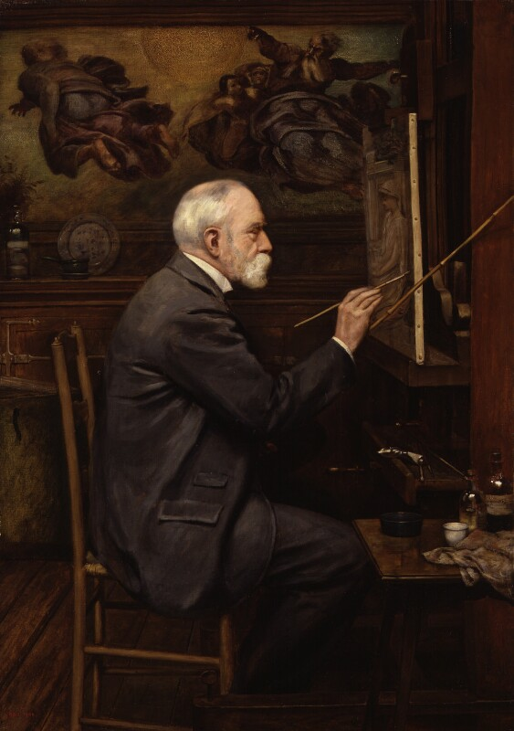 Sir Edward John Poynter, 1st Bt, by Sir Philip Burne-Jones, 2nd Bt, 1909 - NPG 1951 - © National Portrait Gallery, London