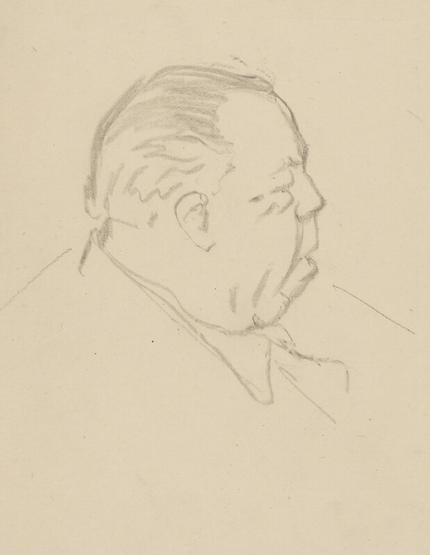 J.B. Priestley, by Sir David Low, 1952 or before - NPG 4529(283) - © Solo Syndication Ltd