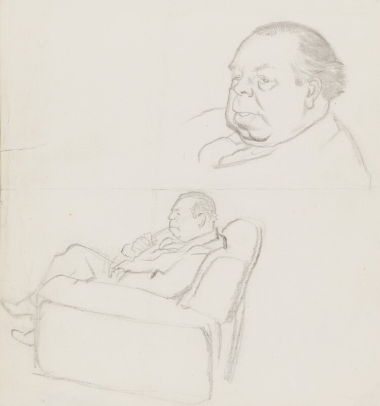 J.B. Priestley, by Sir David Low, 1952 or before - NPG 4529(284) - © Solo Syndication Ltd