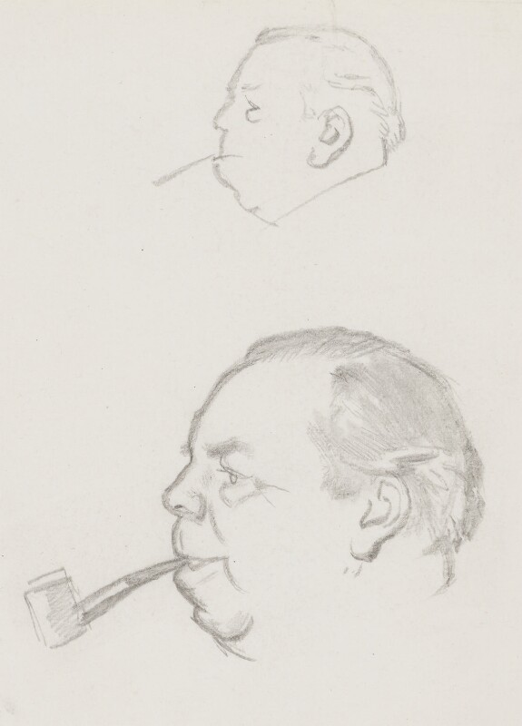 J.B. Priestley, by Sir David Low, 1952 or before - NPG 4529(285) - © Solo Syndication Ltd