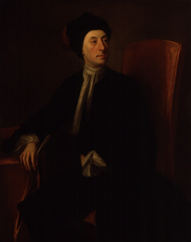 Matthew Prior, by Thomas Wright, after  Jonathan Richardson, circa 1728-1736, based on a work of circa 1718 - NPG 91 - © National Portrait Gallery, London