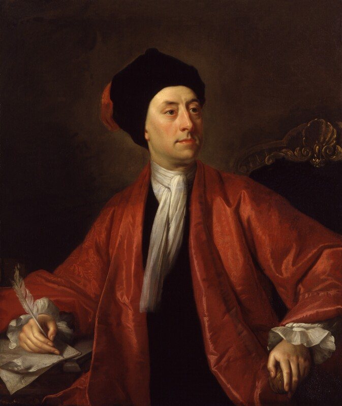 Matthew Prior, by Thomas Hudson, after  Jonathan Richardson, before 1779, based on a work of 1718 - NPG 562 - © National Portrait Gallery, London