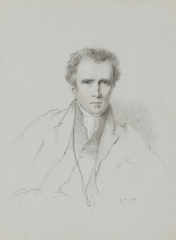 Bryan Waller Procter (Barry Cornwall), by William Brockedon, 1830 - NPG 2515(23) - © National Portrait Gallery, London