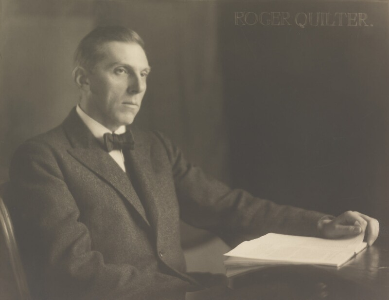 Roger Quilter, by Herbert Lambert, circa 1922 - NPG P110 - © National Portrait Gallery, London