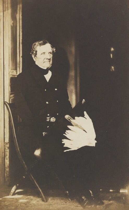 Fitzroy James Henry Somerset, 1st Baron Raglan, by Roger Fenton, 1855 - NPG P19 - © National Portrait Gallery, London