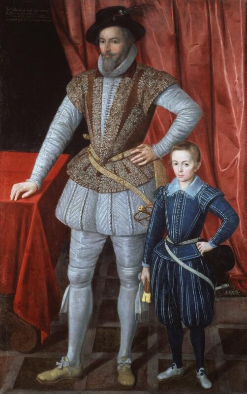 Sir Walter Ralegh (Raleigh) (Raleigh); Walter Ralegh, by Unknown artist, 1602 - NPG 3914 - © National Portrait Gallery, London