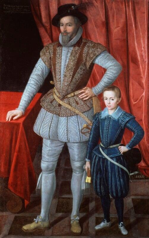 Sir Walter Ralegh (Raleigh); Walter Ralegh, by Unknown artist, 1602 - NPG 3914 - © National Portrait Gallery, London