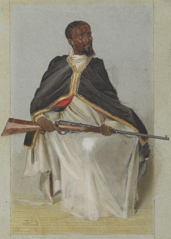 Ras Makunnan, by Sir Leslie Ward, published in Vanity Fair 12 February 1903 - NPG 4707(16) - © National Portrait Gallery, London