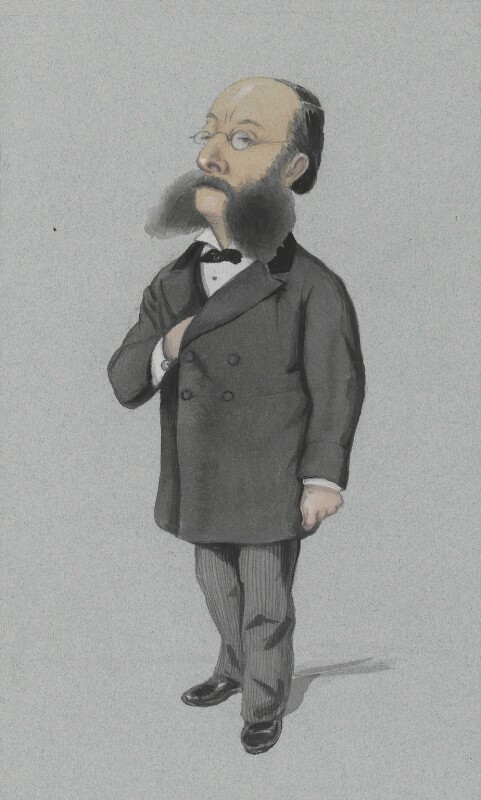 (Paul) Julius de Reuter, Baron de Reuter (né Israel Beer Josaphat), by Melchiorre Delfico, published in Vanity Fair 14 December 1872 - NPG 3275 - © National Portrait Gallery, London