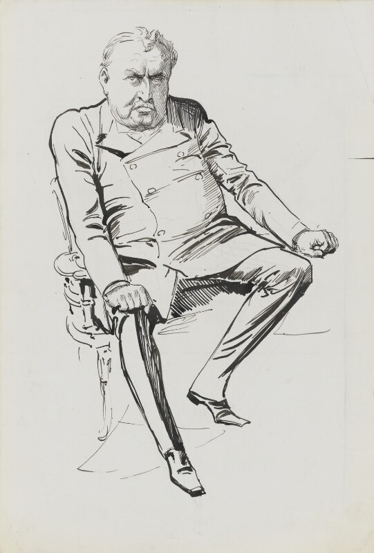 Cecil John Rhodes, by Harry Furniss, 1880s-1900s - NPG 3404 - © National Portrait Gallery, London