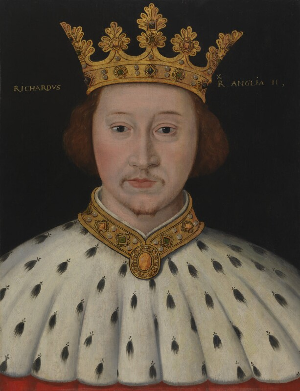 King Richard II, by Unknown artist, 1597-1618 - NPG 4980(8) - © National Portrait Gallery, London
