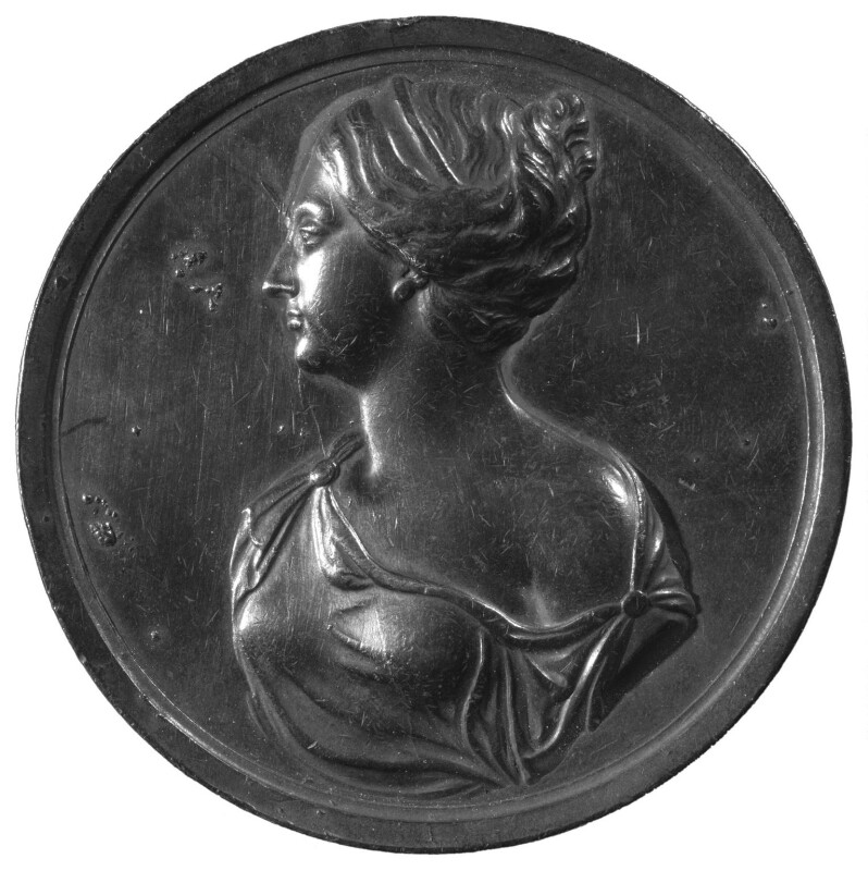 Frances Teresa Stuart, Duchess of Richmond and Lennox, cast of a medal by John Roettier, 19th century, based on a work of circa 1667 - NPG 1681 - © National Portrait Gallery, London