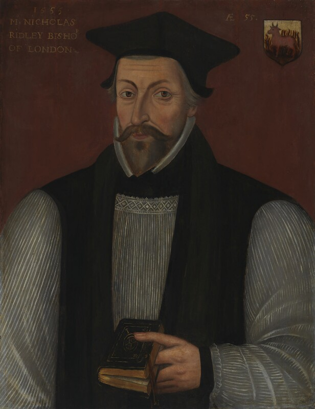 Nicholas Ridley, by Unknown artist, late sixteenth century - NPG 296 - © National Portrait Gallery, London