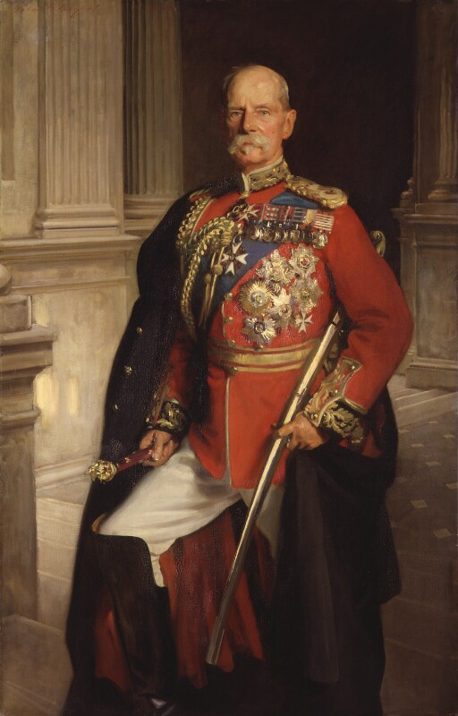 Frederick Sleigh Roberts, 1st Earl Roberts, by John Singer Sargent, 1906 - NPG 3927 - © National Portrait Gallery, London