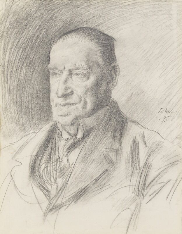 Arthur Roberts, by Augustus John, 1925 - NPG 2362 - © National Portrait Gallery, London