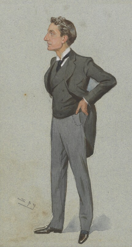 Sir Johnston Forbes-Robertson, by Sir Leslie Ward, published in Vanity Fair 8 July 1895 - NPG 3008 - © National Portrait Gallery, London