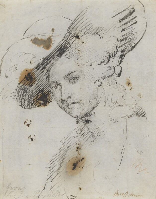 Mary Robinson (née Darby), by or after Sir Joshua Reynolds, circa 1782 - NPG 5264 - © National Portrait Gallery, London