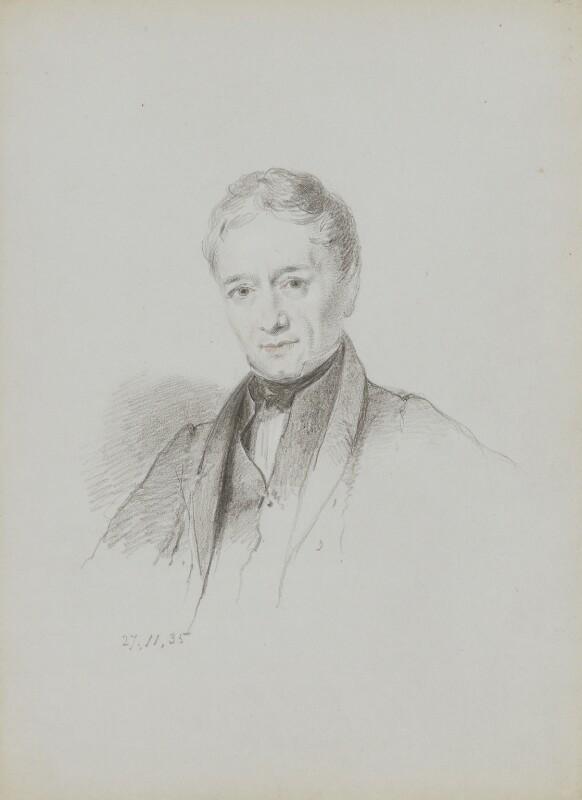 Peter Mark Roget, by William Brockedon, 1835 - NPG 2515(79) - © National Portrait Gallery, London