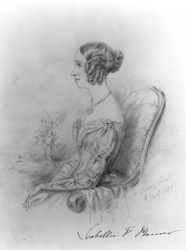 Isabella Frances Romer, by Alfred, Count D'Orsay, 1847 - NPG 4026(50) - © National Portrait Gallery, London