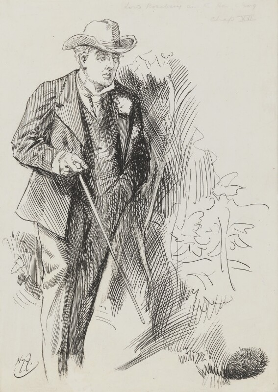 Archibald Philip Primrose, 5th Earl of Rosebery, by Harry Furniss, 1880s-1900s - NPG 3406 - © National Portrait Gallery, London