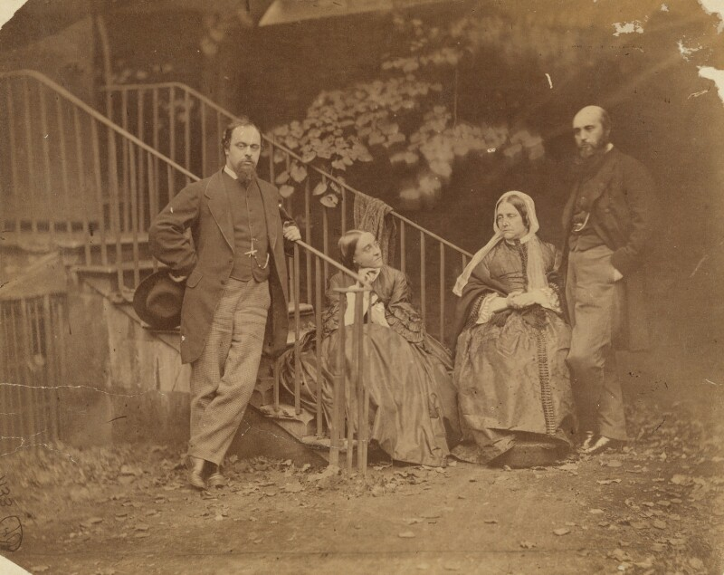 The Rossetti Family, by Lewis Carroll (Charles Lutwidge Dodgson), 7 October 1863 - NPG P56 - © National Portrait Gallery, London