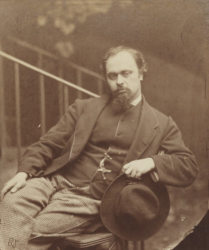 Dante Gabriel Rossetti, by Lewis Carroll (Charles Lutwidge Dodgson), 7 October 1863 - NPG P29 - © National Portrait Gallery, London