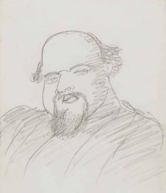 Dante Gabriel Rossetti, by Dante Gabriel Rossetti, circa 1875-1880 -NPG 3048 - © National Portrait Gallery, London
