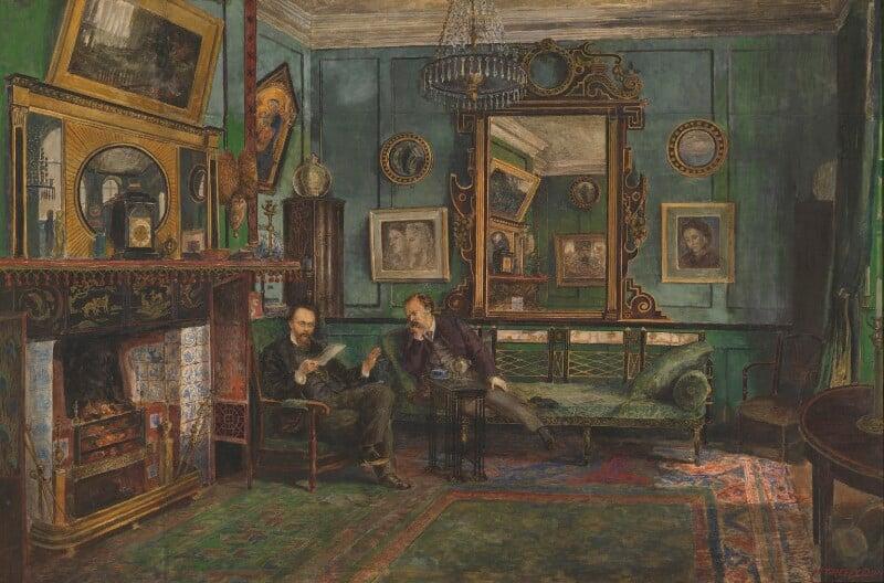 Dante Gabriel Rossetti; Theodore Watts-Dunton, by Henry Treffry Dunn, 1882 - NPG 3022 - © National Portrait Gallery, London
