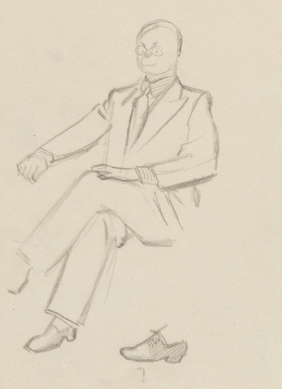 John Rothenstein, by Sir David Low, 1952 or before - NPG 4529(319) - © Solo Syndication Ltd