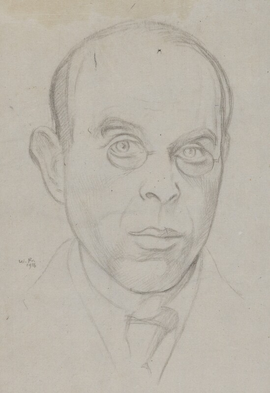 Sir William Rothenstein, by Sir William Rothenstein, 1916 - NPG 4433 - © National Portrait Gallery, London