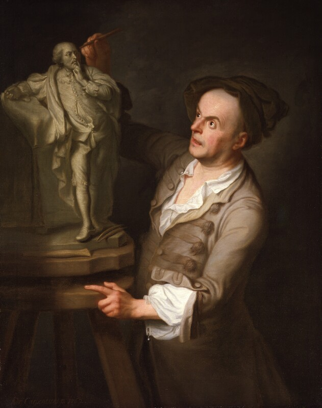 Louis François Roubiliac, by Adrien Carpentiers (Carpentière, Charpentière), 1762 - NPG 303 - © National Portrait Gallery, London