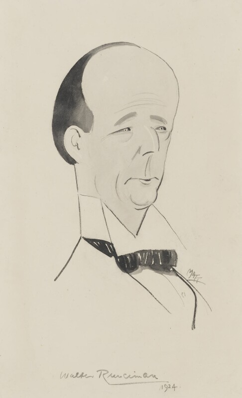 Walter Runciman, 1st Viscount Runciman of Doxford, by Matthew Sandford ('Matt'), 1924 - NPG 5141 - © reserved; collection National Portrait Gallery, London
