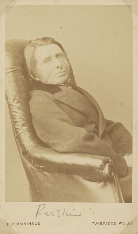 John Ruskin, by Lewis Carroll (Charles Lutwidge Dodgson), 6 March 1875 - NPG P50 - © National Portrait Gallery, London