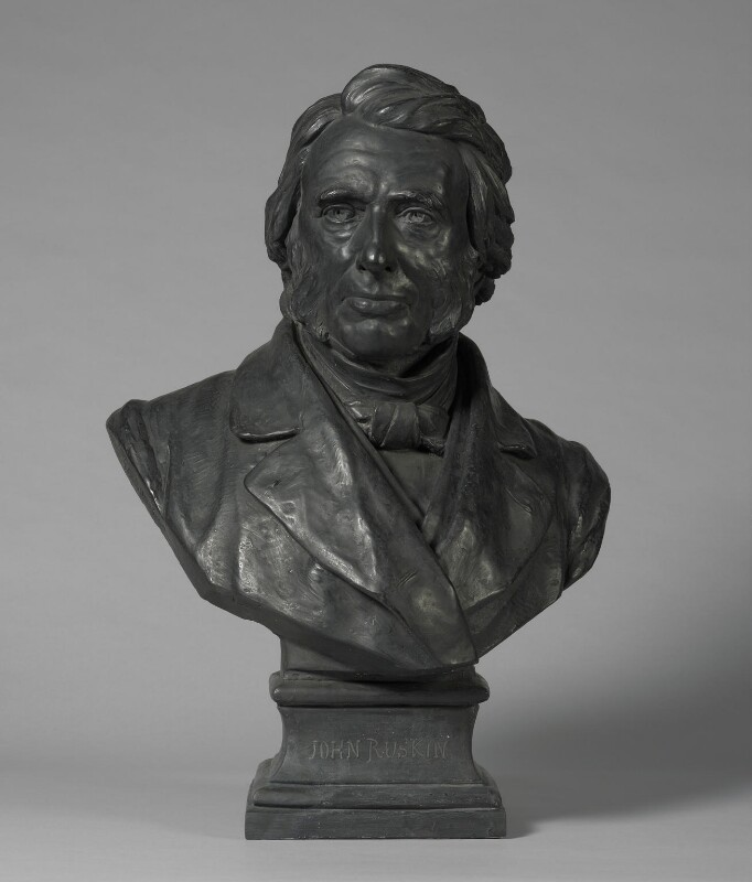 John Ruskin, by Sir Joseph Edgar Boehm, 1st Bt, 1881 - NPG 1053 - © National Portrait Gallery, London