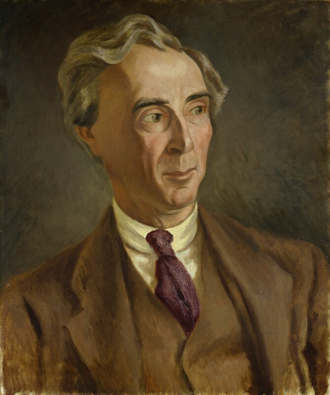 Bertrand Arthur William Russell, 3rd Earl Russell, by Roger Fry, circa 1923 - NPG 4832 - © National Portrait Gallery, London