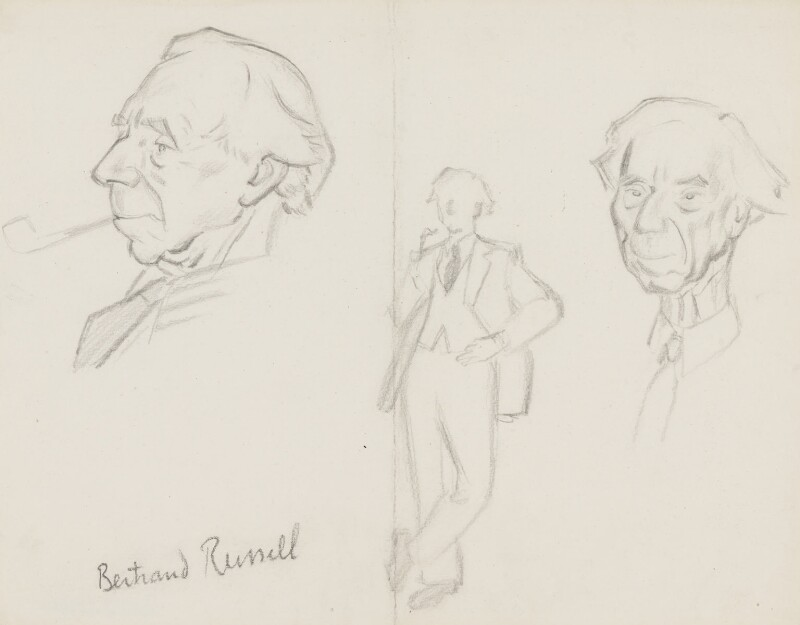 Bertrand Arthur William Russell, 3rd Earl Russell, by Sir David Low, 1945 or before - NPG 4529(321) - © Solo Syndication Ltd