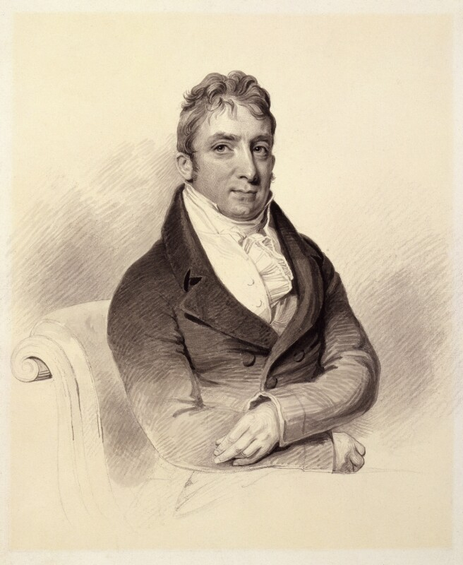 Unknown man, formerly known as John Russell, by Unknown artist, circa 1810-1820 -NPG 3160 - © National Portrait Gallery, London