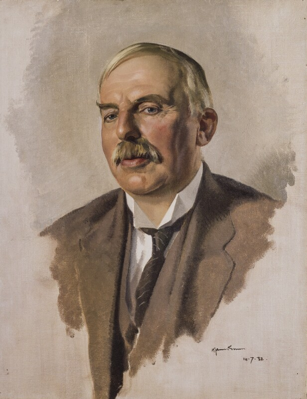 Ernest Rutherford, Baron Rutherford, by Sir James Gunn, 1932 - NPG 2935 - © National Portrait Gallery, London