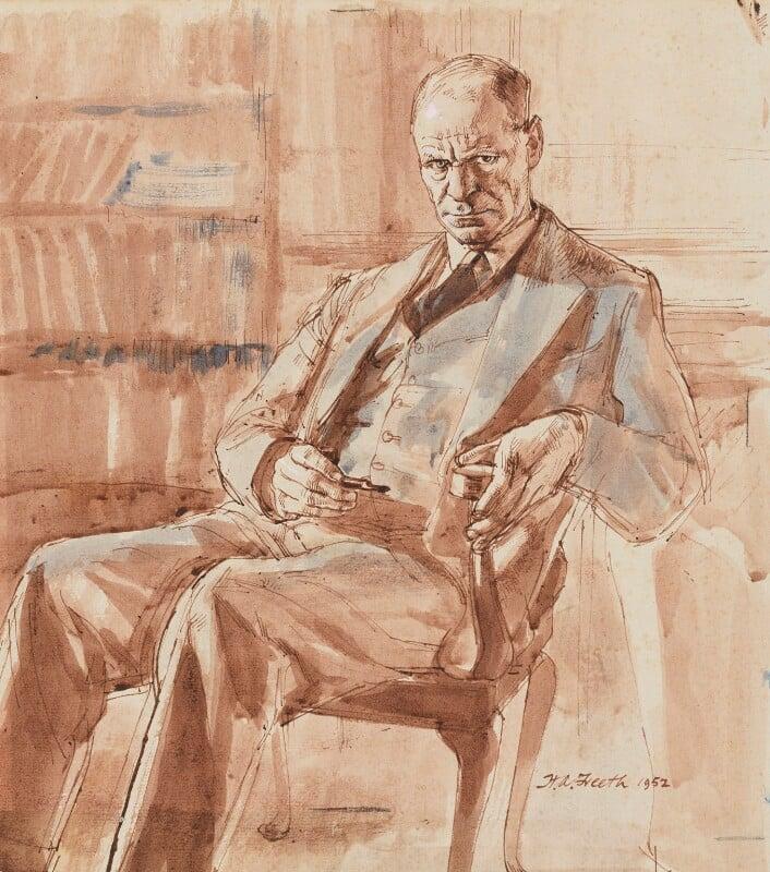 Gilbert Ryle, by Hubert Andrew Freeth, 1952 - NPG 5092 - © Martin, Tony and Richard Freeth