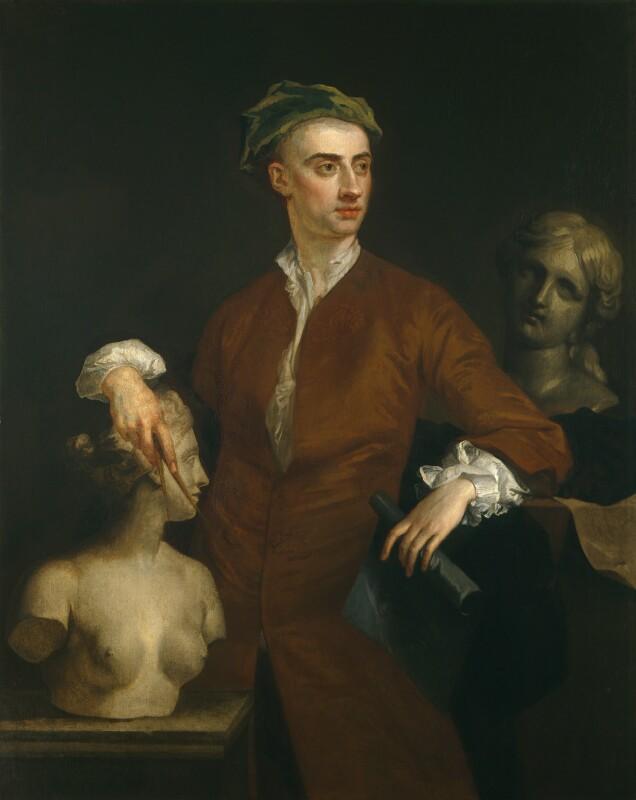 John Michael Rysbrack, by John Vanderbank, circa 1728 - NPG 1802 - © National Portrait Gallery, London