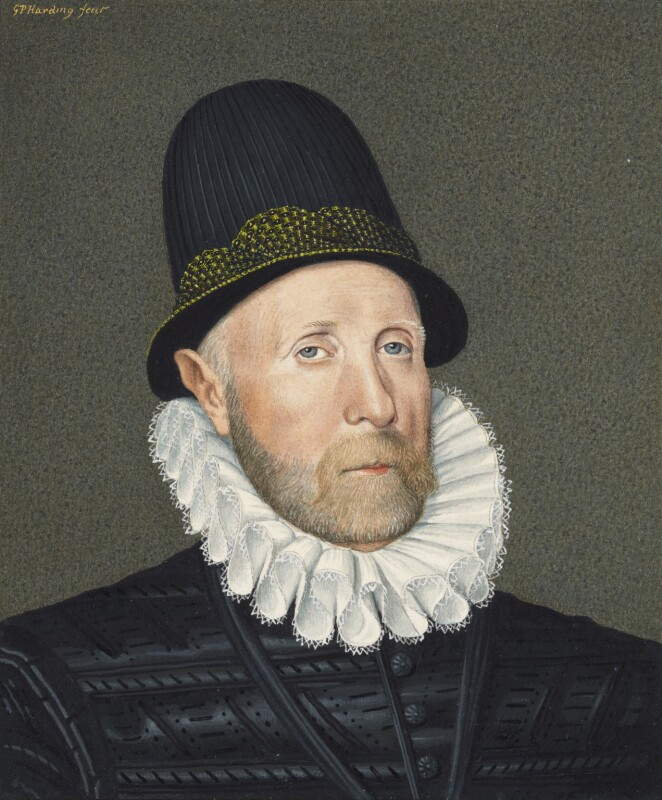 Oliver St John, 1st Baron St John of Bletso, by George Perfect Harding, after  Arnold Bronckorst, 19th century, based on a work of 1578 - NPG 2408 - © National Portrait Gallery, London