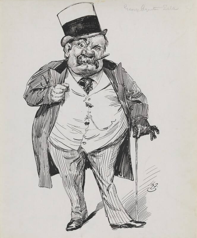 George Augustus Sala, by Harry Furniss, 1880s-1900s - NPG 3507 - © National Portrait Gallery, London