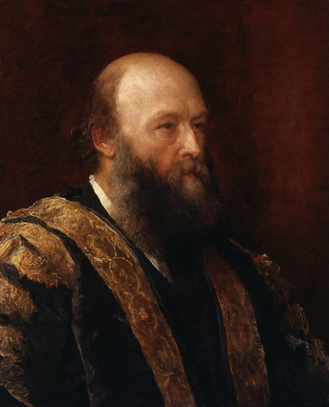 Robert Gascoyne-Cecil, 3rd Marquess of Salisbury, by George Frederic Watts, 1882 - NPG 1349 - © National Portrait Gallery, London