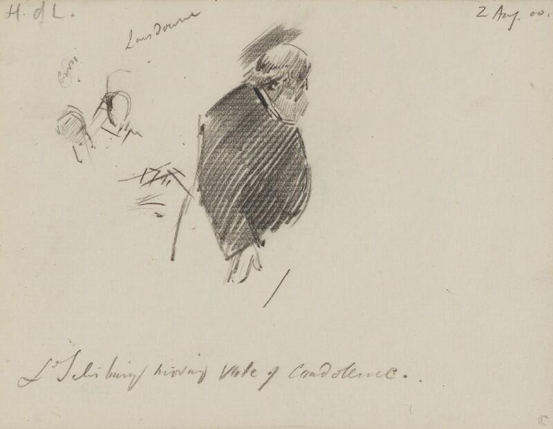 Robert Gascoyne-Cecil, 3rd Marquess of Salisbury, by Sydney Prior Hall, 1900 - NPG 2342 - © National Portrait Gallery, London